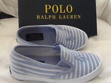 POLO RALPH LAUREN kids light blue SHOES, canvas kids SZ EU 27,5, US11, UK 10.5