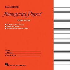 Hal Leonard Wide Staff Manuscript Paper Red Cover 210004