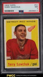 1959 Topps Hockey Terry Sawchuk #42 PSA 7 NRMT