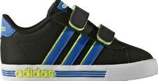 Adidas Infant Daily Team Nubuck Strap Trainers Size UK 5K Black/Blue/Yellow