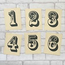 Wedding Table Number Cards - Simple Type Retro Vintage Rustic