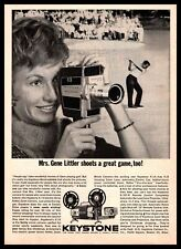 1962 Keystone K-14 Electric Drive Reflex Zoom Home Movie Camera Vintage Print Ad