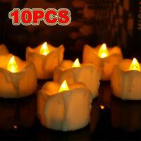 10Pcs Flameless LED Candles Votive Tea Light Fake Candle Tealights Party Decor