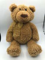 Official Gund Edison Bonkers Brown Teddy Bear Plush Soft Stuffed Toy Animal Doll