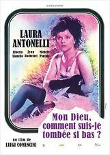 Affiche 40x60cm MON DIEU, COMMENT SUIS-JE TOMBÉE SI BAS ? Laura Antonelli NEUVE