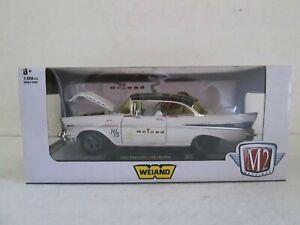2021 M-2 MACHINES 1957 WEIAND BELAIR 1/24 DIE-CAST CARS BOYS GIRLS 8 UP