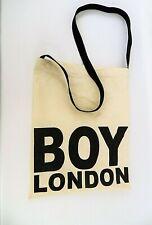 BOY LONDON TOTE BAG 100% COTTON LONG STRAP SHOULDER LIFE SHOPPER L91