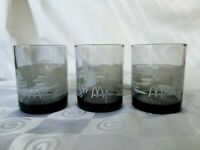 5 Vintage McDonalds Hawaii Scenes Tiki Bar Smoke Old Fashioned Rocks Glasses
