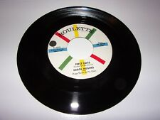 """45"""" Carol Hughes: First Date / Lend Me Your Comb / 1958 / Roulette 4041 / NM"""