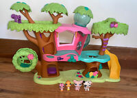 Littlest Pet Shop Magic Motion Tree House Playset Figures 2010 Hasbro LPS Toy