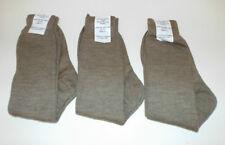 MEN'S THIN KHAKI WOOL / NYLON SOCKS - Size: 6-7 , Pack of 3 , British Army NEW
