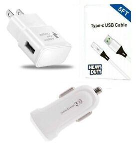 Adaptive Fast Wall Car Adapter, USB-C For LG V30/40/V50/Stylo 4/5/6/LG G6/G7/G8