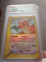 Pokemon Psa Card Dragonite 2002 Expedition base set  Reverse Foil Psa 8