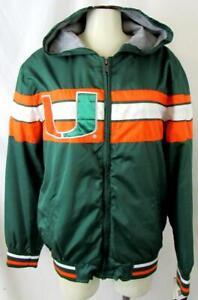 Miami Hurricanes Youth M (12/14) or L (16/18) Full Zip Winbreaker Jacket AMIA 37