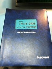 Vintage Ikegami TM14-9RH CRT Manual & Schematics FREE SHIPPING