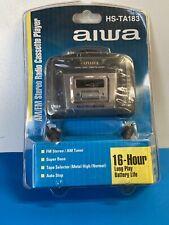 NEW Aiwa HS-TA183 Portable AM/FM Radio Cassette Player NEW