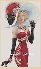 Cross Stitch Chart ELEGANT LADY in Red Dress - No.1-156b (Large Print)