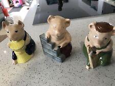 Wade Collectors Club Pigs - Set Of 3 - 1995