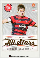 2013-14 A League Trading Cards All Stars AS2 Michael Beauchamp (Wanderers)