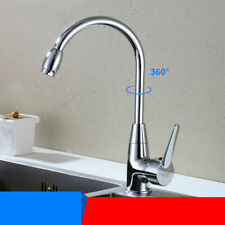Kitchen Spring Faucet 360 Swivel Sink Bar Pull Out Sprayer Single Hole Mixer Tap