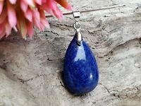 Edelsteinanhänger, Lapis Lazuli Blau Oval Tropfen Ketten Anhänger, Schmuck