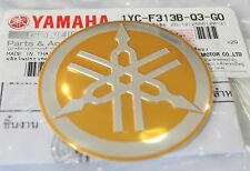 YAMAHA 100% GENUINE 55mm TUNING FORK GOLD / SILVER DECAL EMBLEM STICKER BADGE