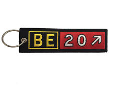Beechcraft King Air 200 Airport Taxiway Sign Embroidered Keychain. Aviation gift