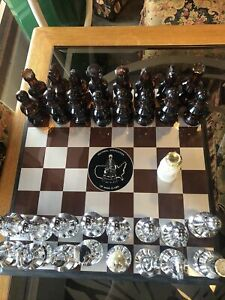 AVON  32 Piece +1 CHESS SET Bottles with Board After Shave & Hair Lotion