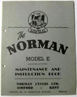 NORMAN Model E 1953 #4421/2/53 Original Owners Motorcycle Handbook