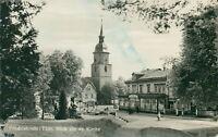 Ansichtskarte Friedrichroda Blick zur Kirche Cafe Schiecke  (Nr.807)