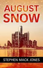 Jones Stephen Mack-August Snow  BOOK NEW