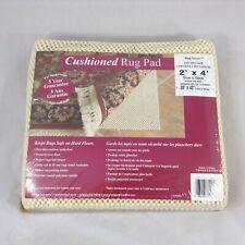 Cushioned Rug Pad Rugsaver 4 ft. x 2 ft. Cream