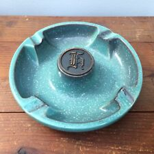 Roseville pottery ashtray The Hyde Park No. 1900 monogrammed gothic H