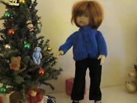 "Darling little cardigan sweater made for 10"" Boneka Dianna Effner"