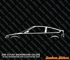 2X Car silhouette stickers - for Honda CRX classic 2nd gen (1987-1991)