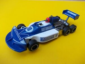 SCALEXTRIC C129 MARCH FORD 240 6 WHEEL IN NEAR MINT CONDITION (REPRO WING)