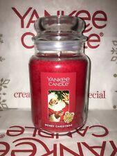 Merry Christmas Yankee Candle 623g 22oz Large Jar - Brand New Genuine