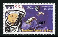 Space Raumfahrt 1984 Benin Gagarin Kosmonaut Raumkapseln Aufdruck 362/1086
