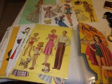 Huge bunch of Paper Dolls & Paper Doll Clothes from 1941