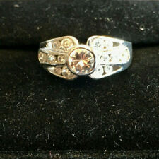 Stone Clear Cubic Zirconia Size 6 Cz Ring .925 Sterling Silver 15