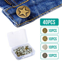 40 Sets Metal Jeans Button Tack Buttons Replacement Kit Repair For Sewing Pants