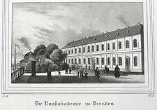 Dresde-escuela de arte-Saxonia-kreidelithografie 1835