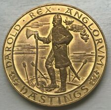1066 - 1966 Battle of Hastings Medal - Approx 2 Centimeters in Diameter