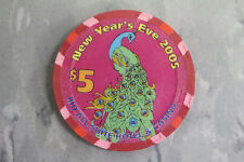 Rio Las Vegas, NEW YEARS EVE $5 Casino Poker Chip by Paulson  - NEW