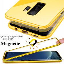 360 ° caso de adsorción magnética para Samsung Galaxy S10 S9 S 8 Plus S7 cubierta de cristal + Pc