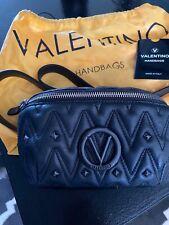 valentino mario Black Leather Belt Bag