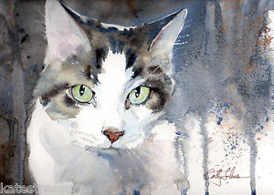 Beloved Cat print from an original by Cathy Johnson