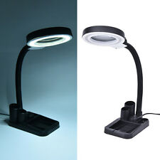Magnifying Crafts Glass Desk Lamp With 5X 10X Magnifier With 40 LED Lighting FO
