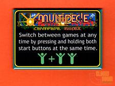 "Multipede multigame 2x3"" instructional magnet Atari Centipede Millipede Braze"