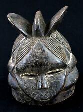 Art Africain Premier Tribal - Masque Casque Mende Sandé Sierra Leone - 24,5 Cms